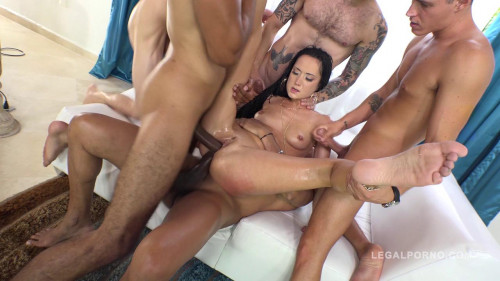 Angie Moon total anal destruction with Dp Dap triple penetration (2016)