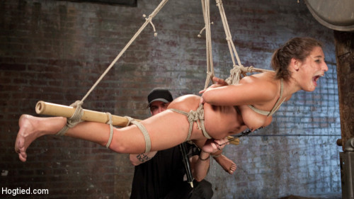 19 Year Old Rope Slut Suffers in Extreme Bondage BDSM