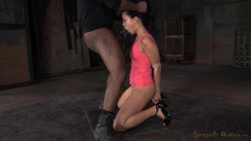 SexuallyBroken - Jan 12, 2015 - Bound newbie Mia Austin roughly fucked in strict restraints BDSM