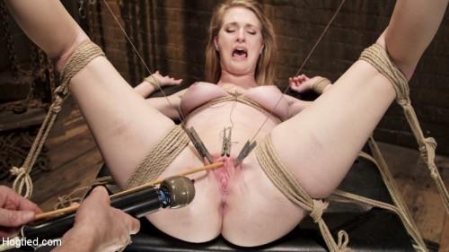 Hot Blonde Squealer in Intense Orgasm Overload BDSM