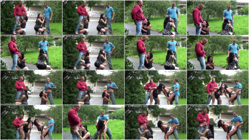 Public Orgy On The Street With Pregnant Woman And Cute Petite Girl – (1080)