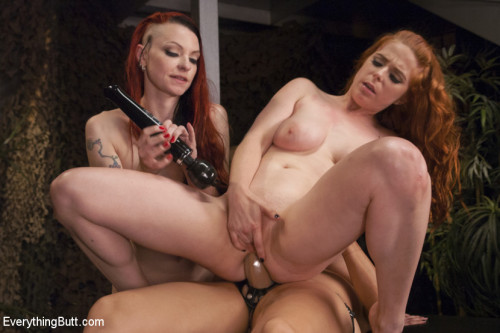 Who gets the Booty First? Anal Treasure Hunters stop at Nothing. Femdom and Strapon