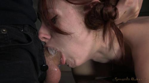 Redheaded Violet Monroe strictly shackled BDSM