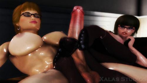 The Femdom Vixens 3D Porno