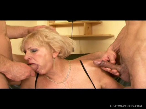 Granny Double penetrated by young Studs Old and Young
