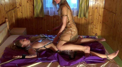Plastic Fetish play Lili and Katy (2013) BDSM