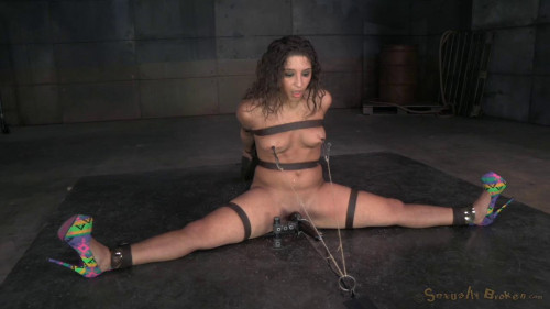 Flexible cock slut Abella Danger bound multiple orgasms BDSM