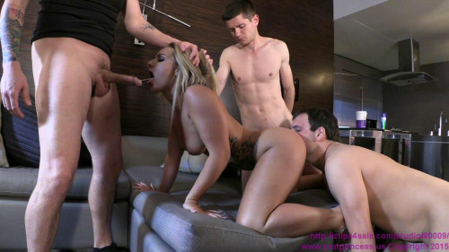 BratPrincess.us Cali Carter - Fucked by Stud with Two Chastity Cucks Serving Femdom and Strapon