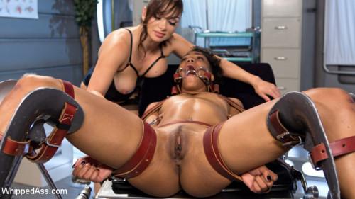 Crazed Lesbian Patient Spanks and Fucks Hot Nurse! BDSM