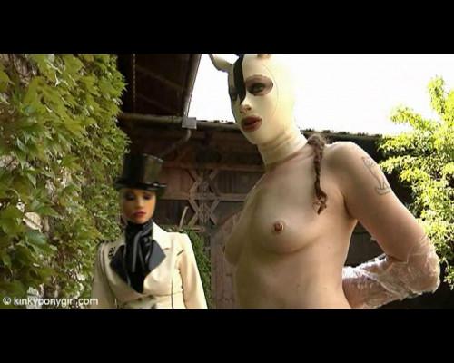 KPG - White Ponygirl BDSM