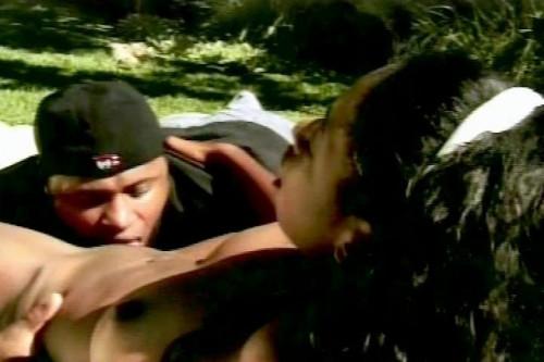 Black sex outdoors Ebony
