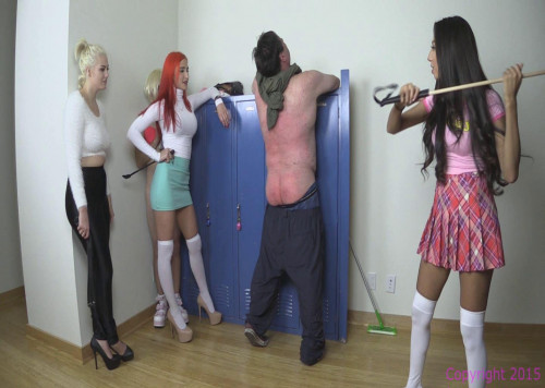 Corporal Lab In The Hall Femdom and Strapon