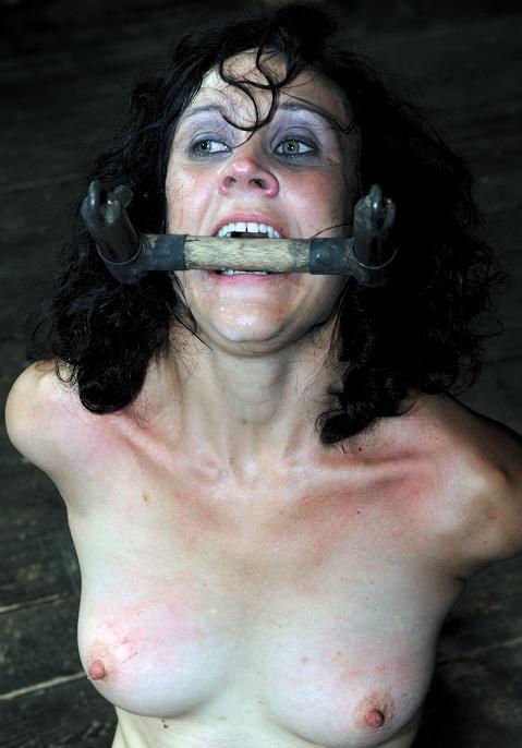 Charming slave in bondage BDSM