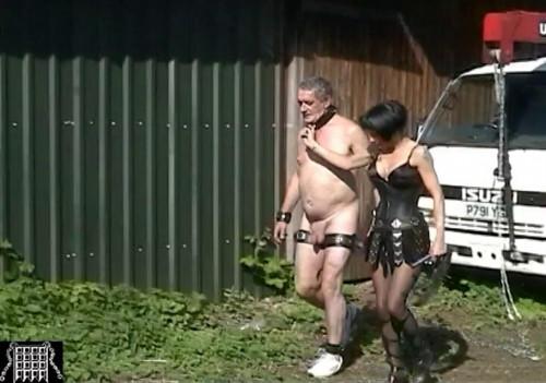 Captive Slave Femdom and Strapon