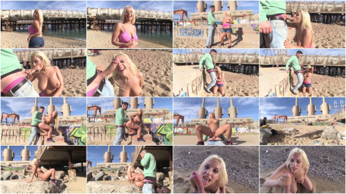 Alberto Blanco bangs Blondie's asshole on a beach – 1080p