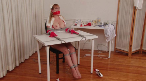 Gagging Nurse Boobie Part 1 – Chair Bondage and Orgasm for Lorelei