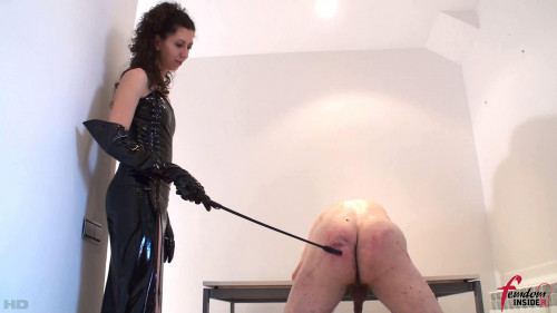 Lady Mary - Merciless Caning Lesson Femdom and Strapon