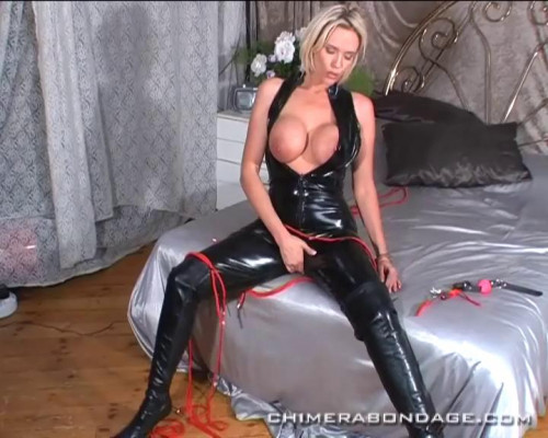 Lucy finds some ropes, a dildo and a black catsuit... (2014) BDSM