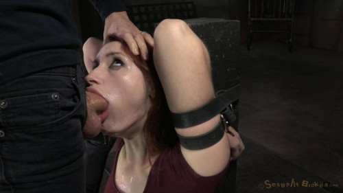 Bound dungeon pet Violet Monroe vibrated to multiple orgasms BDSM