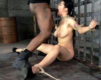First Bondage and Deepthroat BDSM
