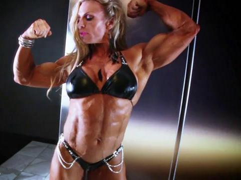 DOWNLOAD from FILESMONSTER: female muscle Debi Laszewski in Leather Bikini