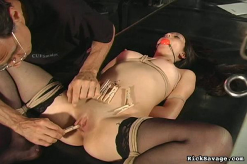 DOWNLOAD from FILESMONSTER:  BDSM Extreme Torture  Pin Cushion Tits (2013)