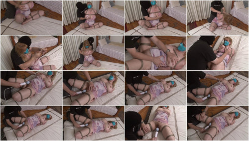 Bound and Gagged – Lorelei is Vibed to Orgasm on the Mattress
