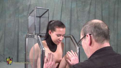 Houseofgord - Fucked and Vibrated in a Glass Box HD 2015 BDSM