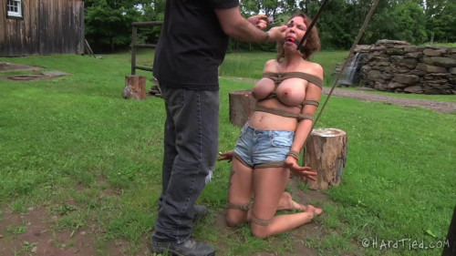 Metal Cable Around Her Throat - Rain DeGrey BDSM