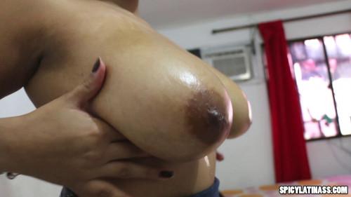 Oiled Up Huge Tits latina slut