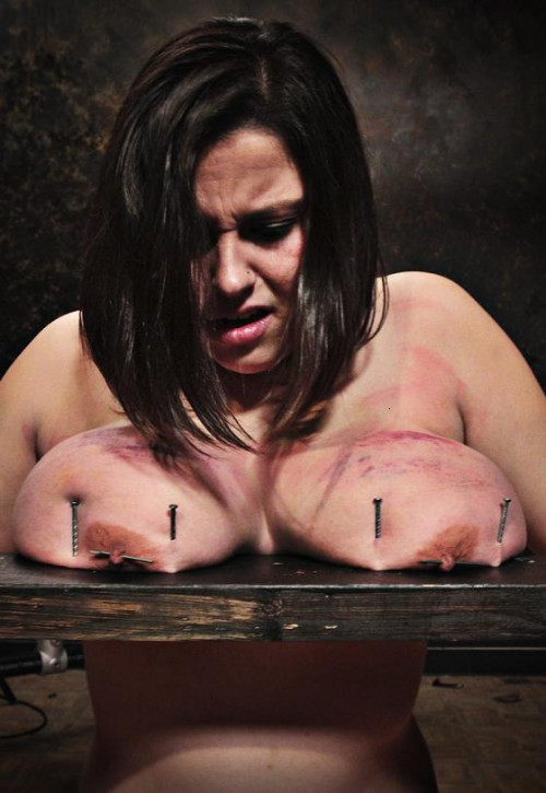 Beautiful boobs vs. nails BDSM