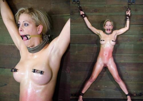 Stunning blonde in BDSM BDSM