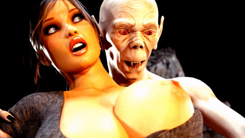 Lara Croft and the golden skull. 3D Porno