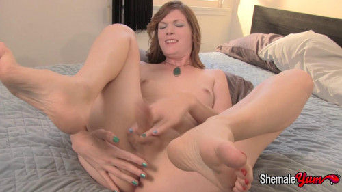 Amy Deep - Solo Dildo Play SheMale
