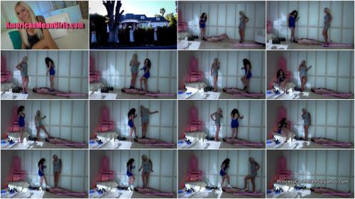 Nina Elle & Princess Carmela Human Shoe Stage