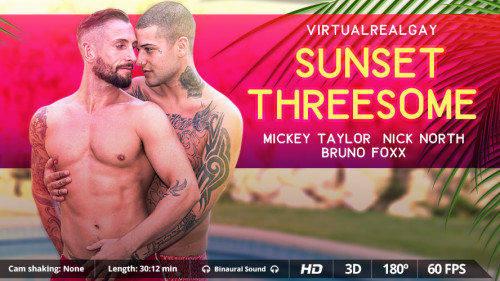 Virtual Real Gay - Sunset Threesome (Android/iPhone) Gay 3D stereo