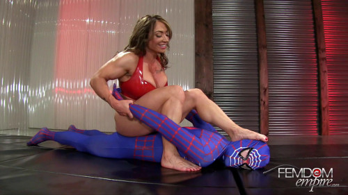 Superior Muscle Goddess Femdom and Strapon