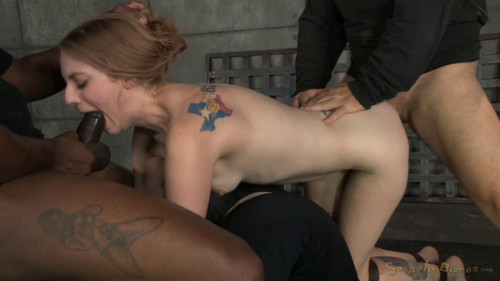 Stunning Ela Darling tied face down ass up and stuffed full of hard cock, brutal deepthroat on BBC! BDSM