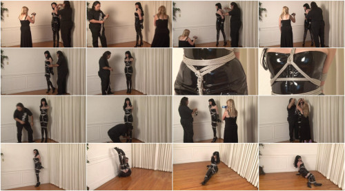 Bound and Gagged -Boots and Shiny PVC in Bondage – Ikaras ties Mary Jane
