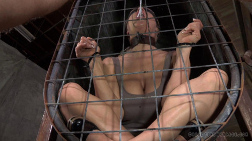 RTB - Darling blindfolded, caged and tagteamed by dick! - Apr 1, 2014 - HD BDSM