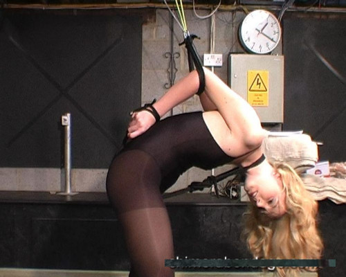 Ariel ties a spreader bar between her ankles... (2014) BDSM