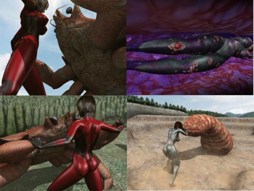 [3D VIDEO] 巨大ヒロイン陵辱・丸呑み 異形の女神・第二集 3D Porno