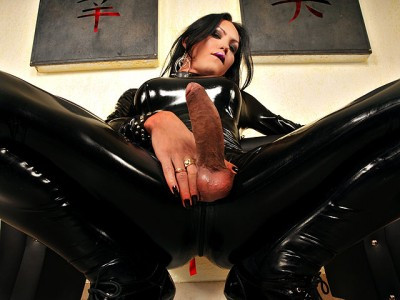 DOWNLOAD from FILESMONSTER:  SheMale LadyBoy Tranny Porn Videos  Luciana Foxx Full Body Latex