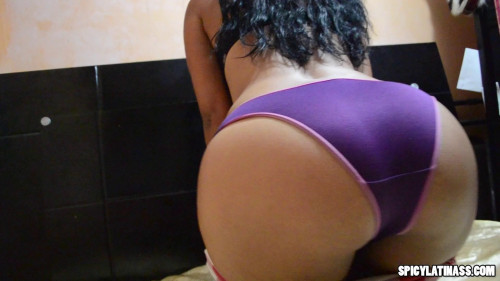Shorts bodysuit and purple panties Latinos