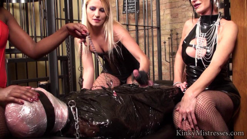 training with 3 ladies Femdom and Strapon