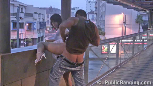 Girl fucked on the balcony of the building
