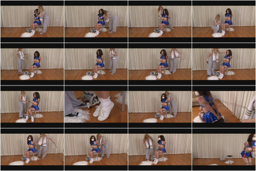 Bound and Gagged – Cheerleader Ashley Renee Roped by Coach Lorelei