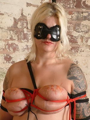 Busty Sub in Pain BDSM