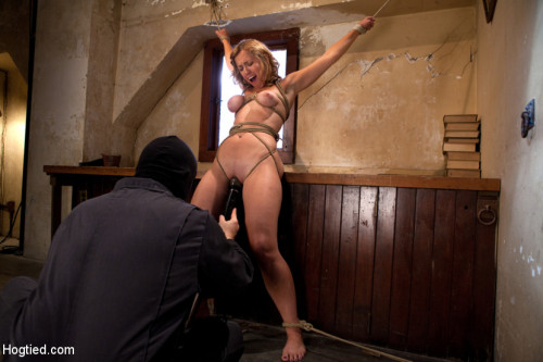 DOWNLOAD from FILESMONSTER: bdsm Hot blond has clothespins flogged off her breasts, fucked with a stick, vibrated and made to cum!