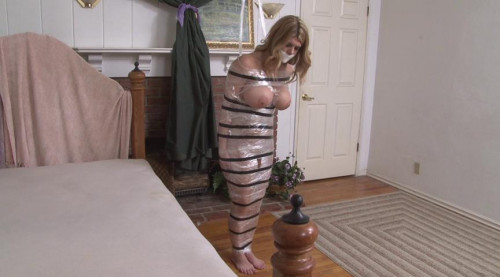Bound and Gagged – Topless Mummification for Carissa Montgomery